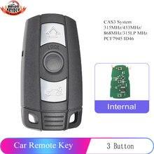 KEYECU дистанционный ключ 3B 315 МГц/433 МГц/868 МГц для BMW 1/3/5/7 серии CAS3 X5 X6 Z4 автомобильный передатчик управления с чипом ID46 PCF7945