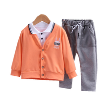 цена на New Spring Autumn Baby Boys Clothes Suit Children Cartoon T Shirt Coat  Pants 3Pcs/sets Toddler Casual Clothing Kids Tracksuits