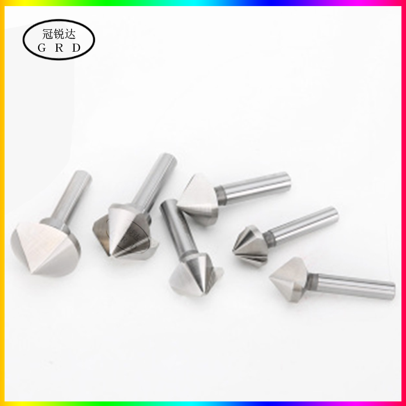 1 Flute 3 Flute Chamfer End Mill 4mm-60mm 14mm 30mm 40mm 50mm Tungsten Steel Bit With 90 Degree V Groove Chamfer Milling Tool