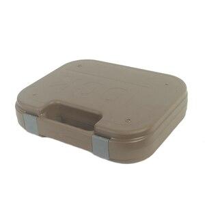 Image 3 - Glock tático abs caso pistola coldre caixa de engrenagem dura arma saco acolchoado forro de espuma para caça tiro acessórios