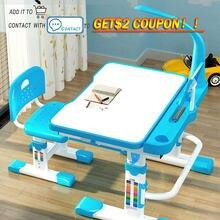 Transformador crianças mesa de estudo para a criança com tilt mesa de trabalho conduziu a gaveta luz funcional mesa e cadeira conjunto crianças mesa de escrita