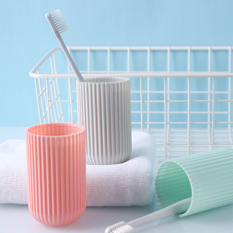 Portable Toothbrush Toothpaste Storage Box Tooth Brushes Holder Mouthwash Cups For Travel image