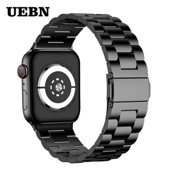 UEBN Stainless Steel Classic Metal Band for Apple watch Series 5 4 3 Strap for iWatch 40mm 44mm 42mm 38mm Bracelet Watchbands liitokala 3s 12 6v 5a charger power supply adapter 12v lithium battery pack li ion batterites eu us au uk ac dc plug converter