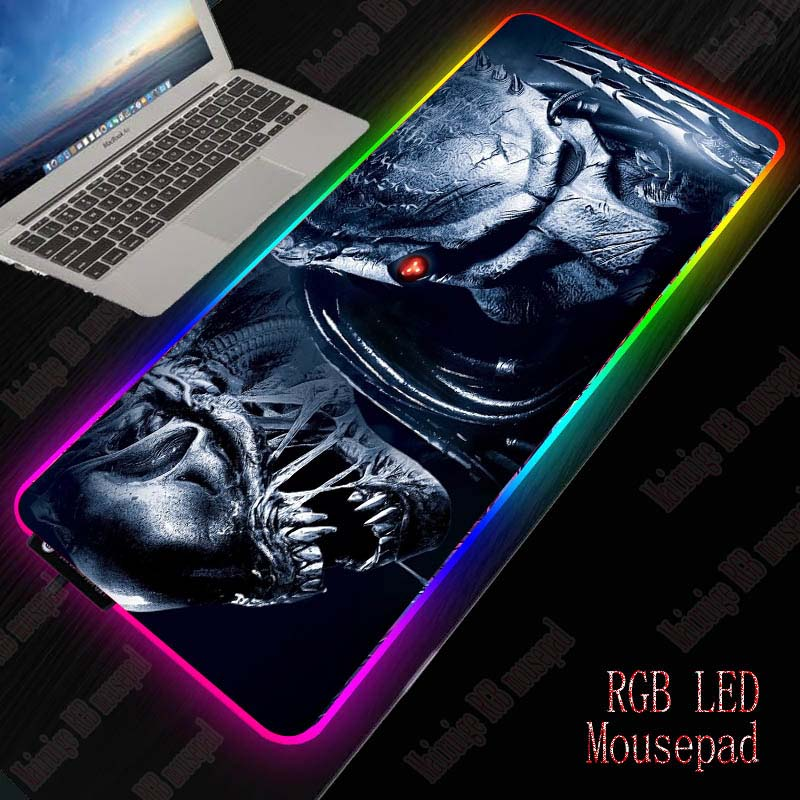 Mairuige Predator Gaming <font><b>Mouse</b></font> <font><b>Pad</b></font> <font><b>Large</b></font> Mousepad RGB Computer Gamer MausePad Desk LED Backlit <font><b>Xxl</b></font> Keyboard Table Mat for Csgo image