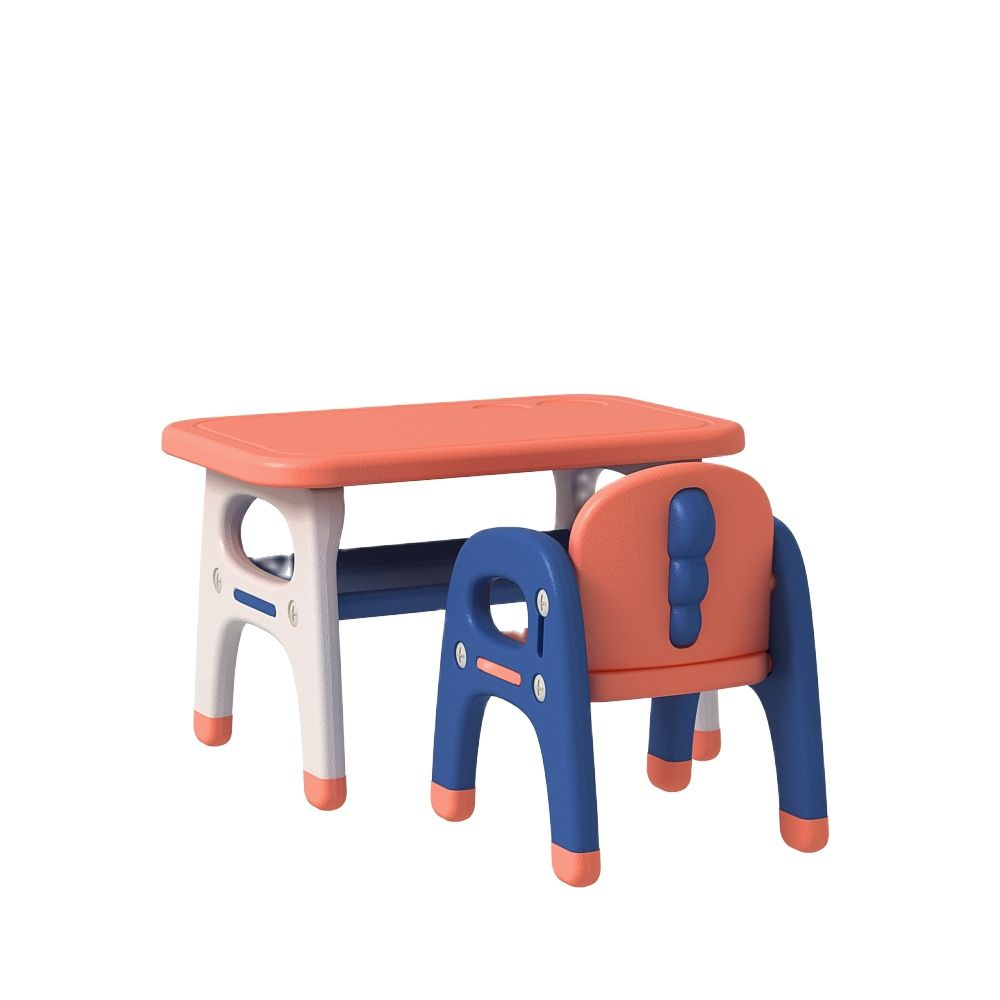 Children's Toy Table And Chair Set Household Plastic Baby Study Desk Rectangular Small Chair