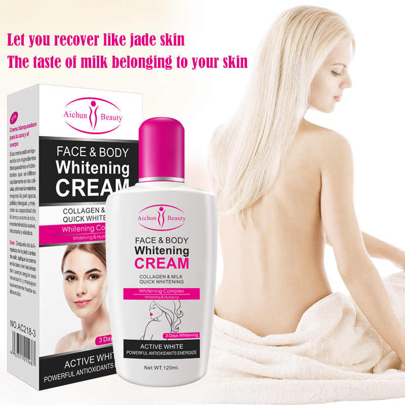 คอลลาเจนนมฟอก Face Body Cream Whitening Moisturizing Body Lotion Skin Lightening Cream