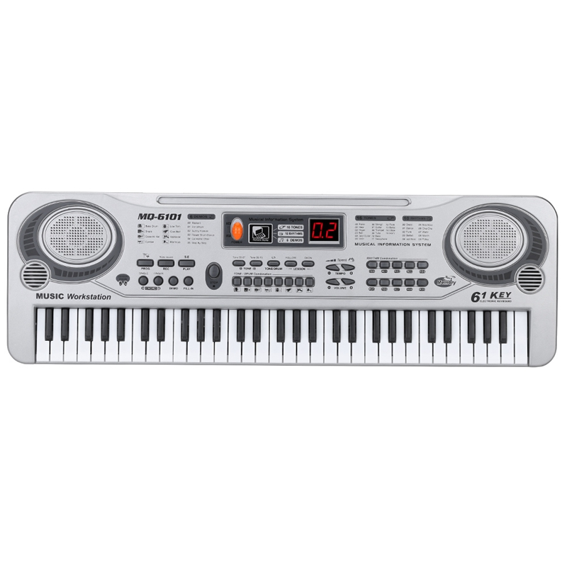 61-Key Keyboard Piano Piano Led Instrument Keyboard 21-Inch Music Education Double-Row Electronic Piano Children Beginner Electr