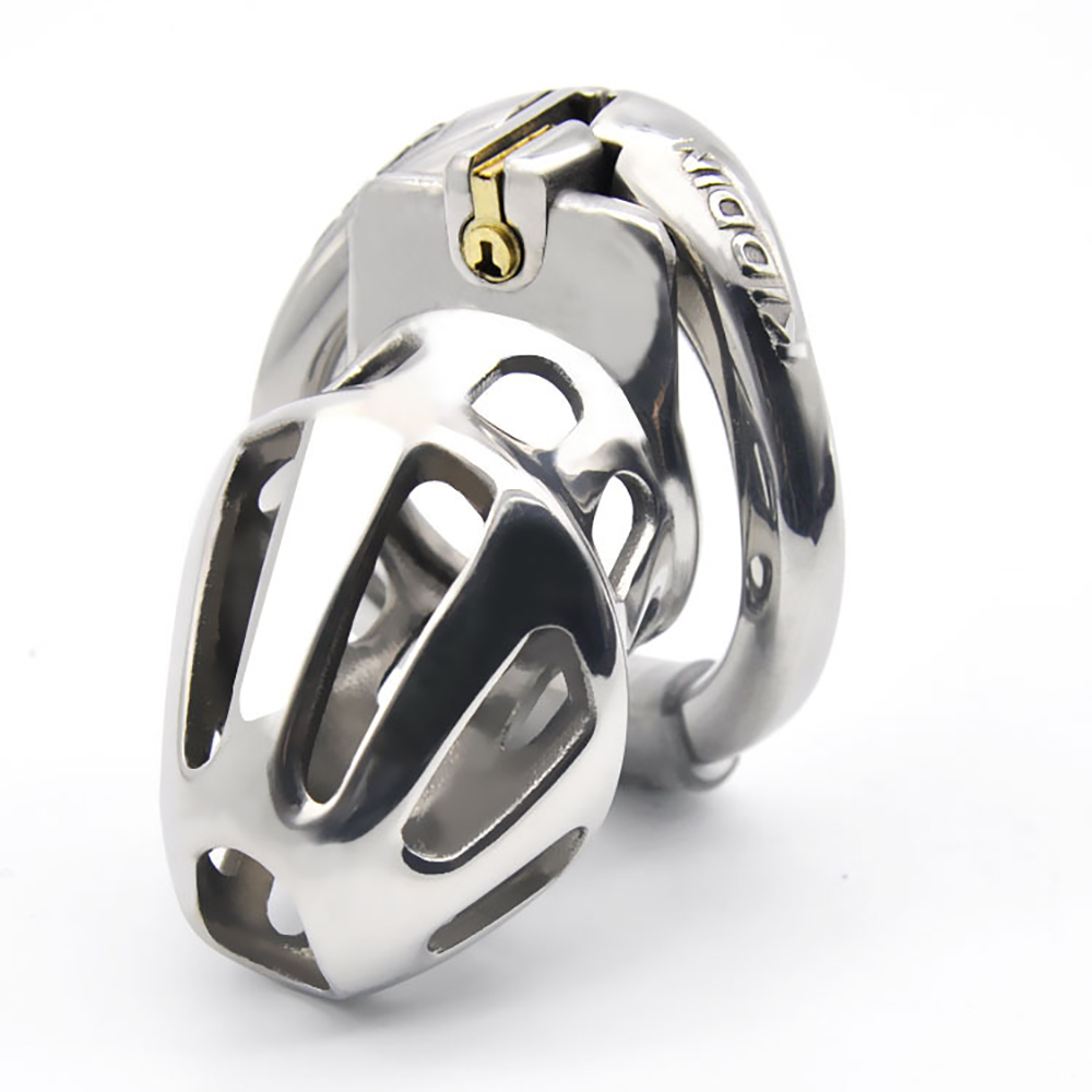 2020 New Male Chastity Devices Stainless Steel <font><b>Cock</b></font> Cage For Men Metal Chastity Belt <font><b>Cock</b></font> <font><b>Ring</b></font> <font><b>Sex</b></font> <font><b>Toys</b></font> <font><b>Cock</b></font> Lock Adult Game <font><b>Toy</b></font> image