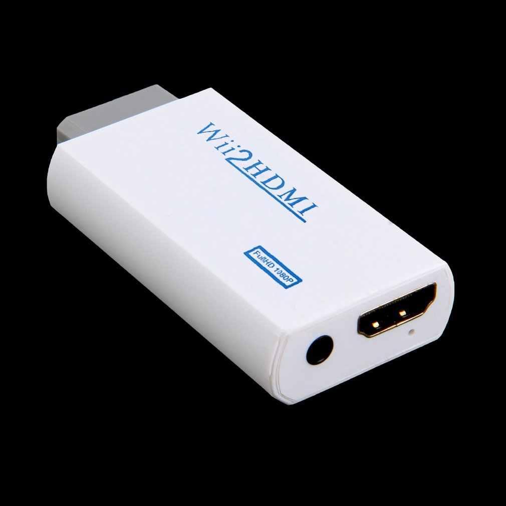 Белый Пластик Wii к HDMI Wii 2HDMI адаптер конвертер Full HD 1080P Масштабирование выходного сигнала 3,5 мм аудио видео выход