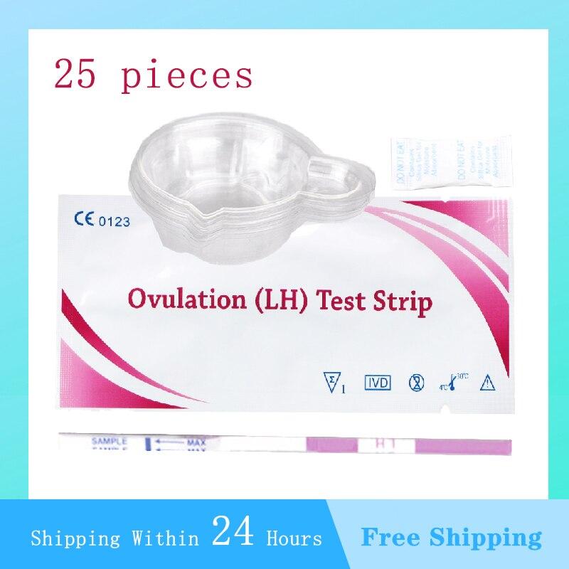 Тест на овуляцию 25 шт., таблетки для женщин для интимной овуляции, бумажная палочка для быстрого тестирования, точность более 99%, устройство ...