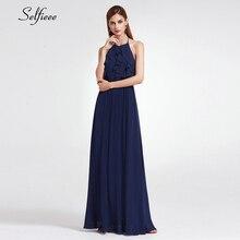 Simple Women Dress A-Line Halter Ruffles Sleeveless Elegant Maxi Ladies Sexy Long Party Vestidos De Festa 2019
