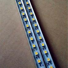 """12V 0,5 M 5050 SMD светодиодный негнущаяся Светодиодная лента лампа 36 светодиодный s Жесткий световая панель+ """"U V"""" Стильный чехол Корпус DC 12V неводонепроницаемый"""