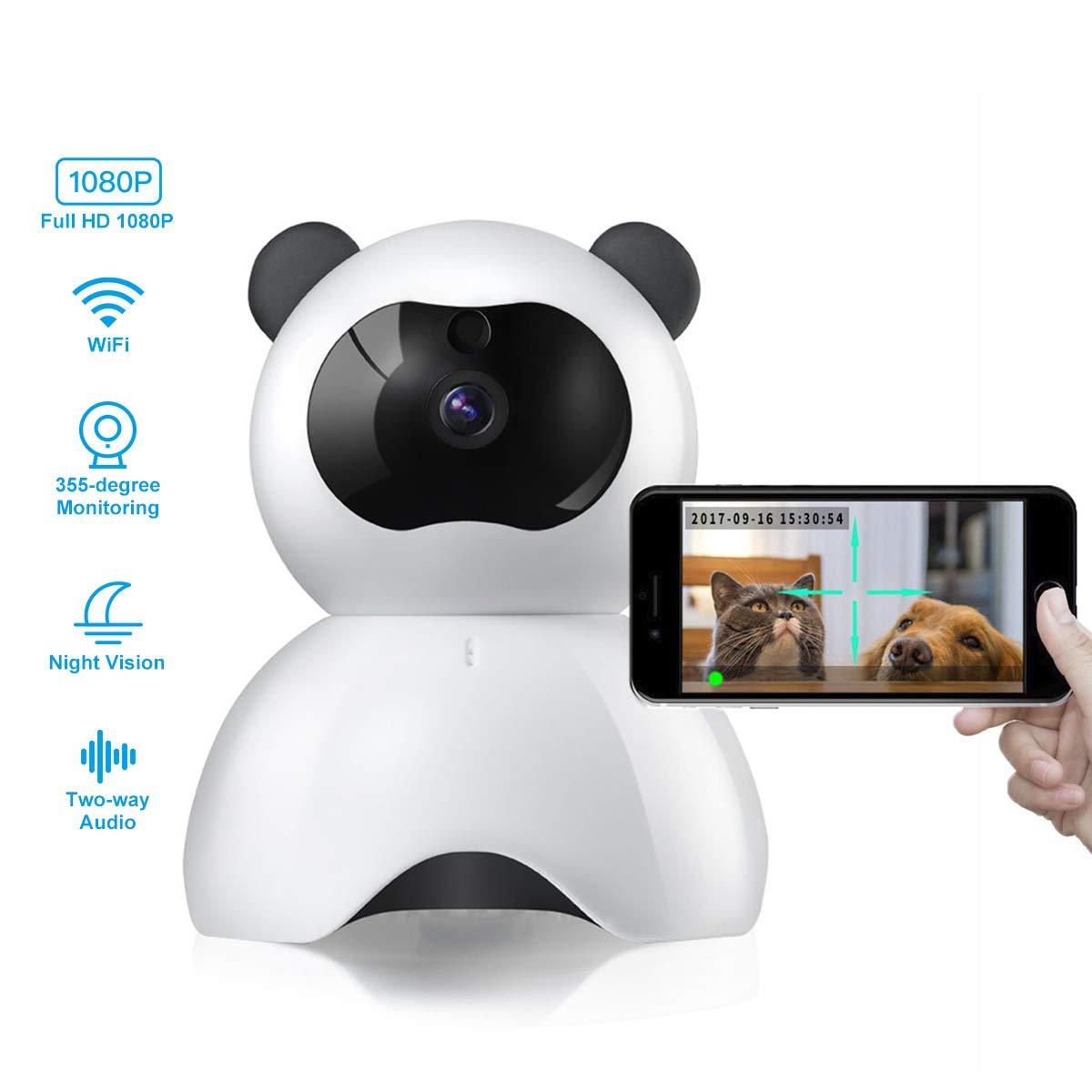 Caméscope Webcam IP 1080P | Caméra intelligente 360, WIFI sans fil, détection de mouvement, Vision nocturne, Angle panoramique à la maison, caméscope amélioré