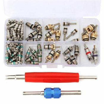 Auto Car R12 &R134a A/C Air Conditioners Valve Core Remover Tool Kit 102pcs/Set