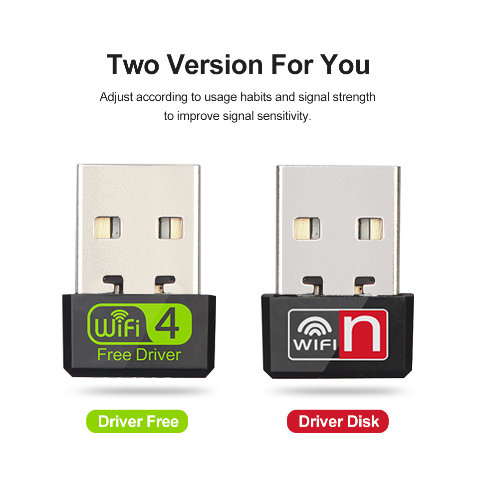 USB WiFi Adapter Antena Wi-Fi Adapter WiFi Dongle Network Card Antenna Wireless Wi-Fi Receiver for TV Free Wi Fi MT7601 8188GU 3