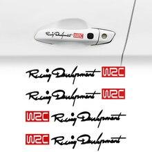 WRC – autocollants à rayures pour poignée de voiture, pour chevrolet cruze lacetti aveo captiva trax sail pour GAZ Gazelle