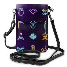 NOISYDESIGNS Halloween Sparkles Print Bolsa Feminina Mini Women Crossbody Bag PU Leather Flap Phone Bags Lady Purse Shoulder