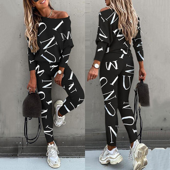 women outfit 2019 two piece set clothes top and pants spring autumn ladies tracksuits korean style plus size fashion lounge wear BJYL Casual Sport Suit Print Long Sleeve Top Long Pants Two Piece Set Women Spring Autumn 2020 Tracksuits Women Ropa Mujer