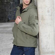 Модная зимняя термокуртка для мужчин тактическое пальто с капюшоном