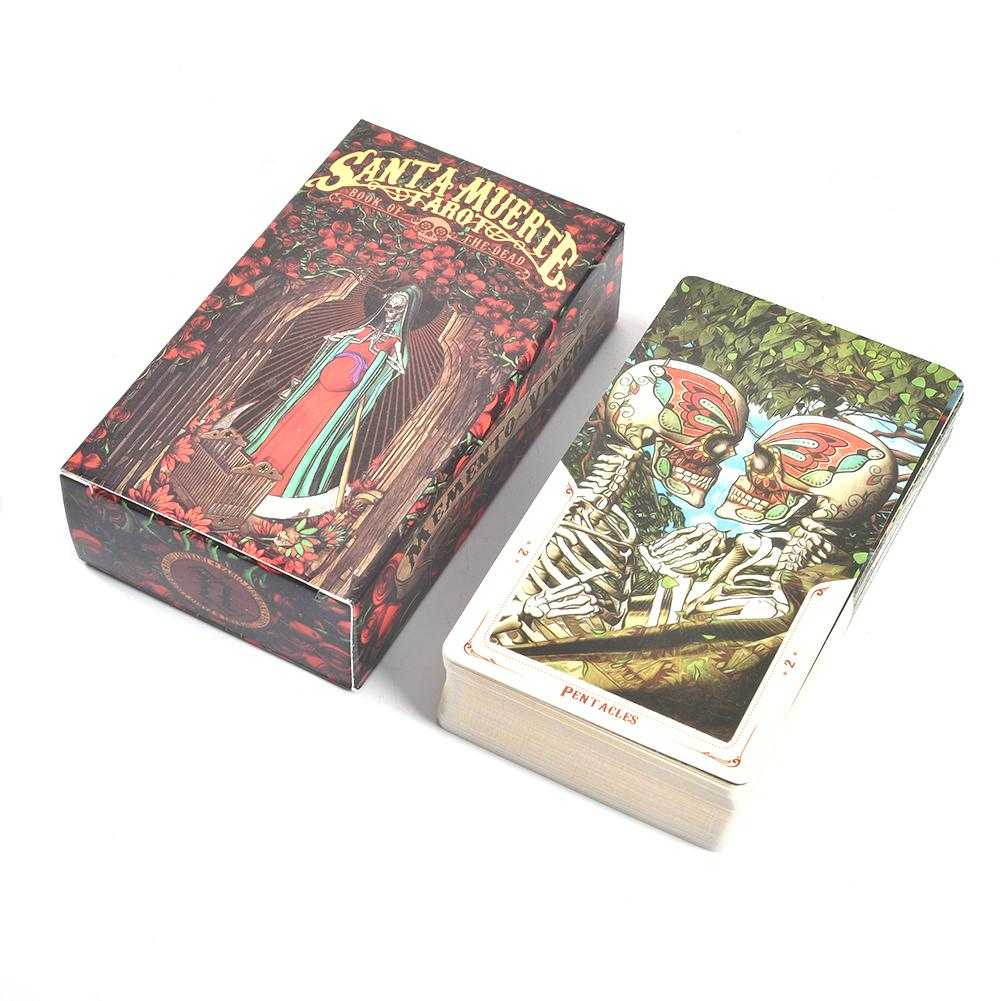 78 Sheets Santa Muerte Tarot Cards With Guidebook Deck Board Game Card Tarot Read Fate Tarot Card Game For Personal Use
