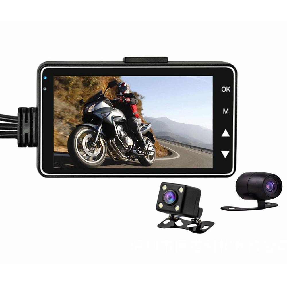 HD Moto double caméra DVR moteur Dash Cam avec spécial double piste avant arrière enregistreur Moto électronique Moto étanche