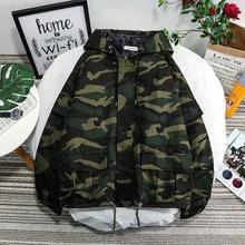 Spring New Camo Jacket Men Fashion Washed Military Wind Hood