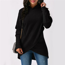 Women Hoodies Sweatshirt Autumn Winter Solid Color