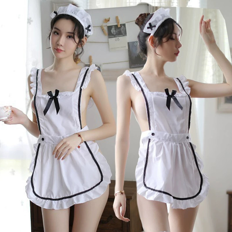 Cute Maid Costume For Women Coffee Maid Suit Maid <font><b>Cosplay</b></font> Sissy Maid <font><b>Sexy</b></font> Uniform <font><b>Halloween</b></font> <font><b>Cosplay</b></font> For Women Festival Clothing image
