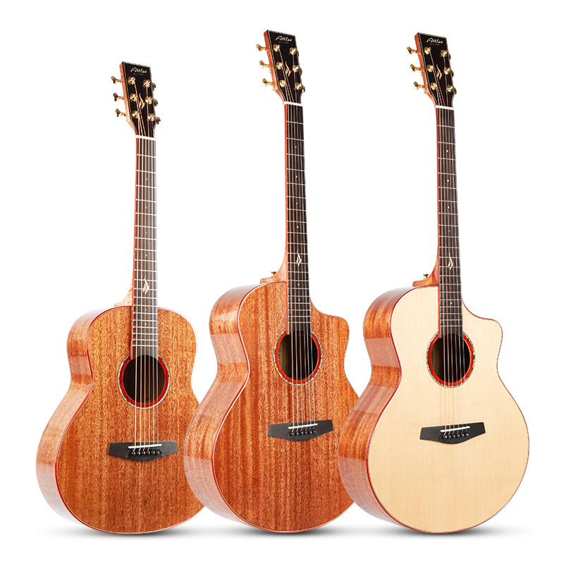 36inch 41 Inch Full Solid Wood Acoustic Guitar Mahogany Top Quality Professional Performance 6 String Guitar Solid Guitar AGT125