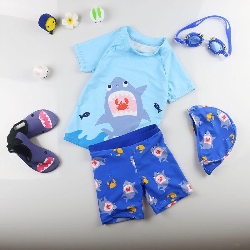 KID'S Swimwear South Korea Infants Baby Swimwear Split Type Sun-resistant Sweat-wicking Swimming Trunks Big Boy BOY'S Boy Hot Sp