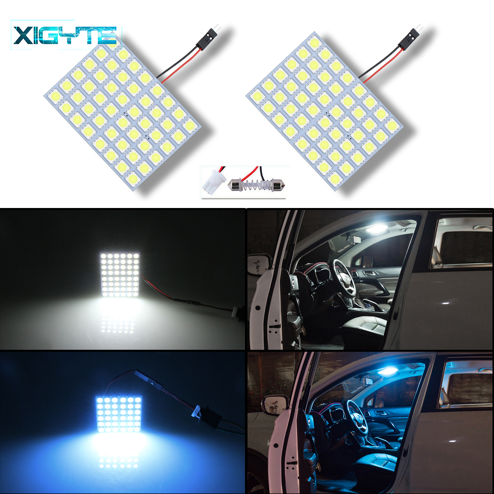 3X Car Panel Reading Map Lamp 5050 6 12 15 24 30 36 48 LED SMD Dome Interior Bulb Roof Lights BA9S T10 C5W Adapter Festoon Base