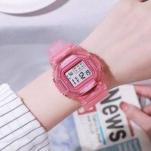 Damskie zegarki cyfrowe Sport Unisex mężczyźni dzieci zegarki moda elektroniczny LED kobieta zegar prezent dla kobiet reloj mujer