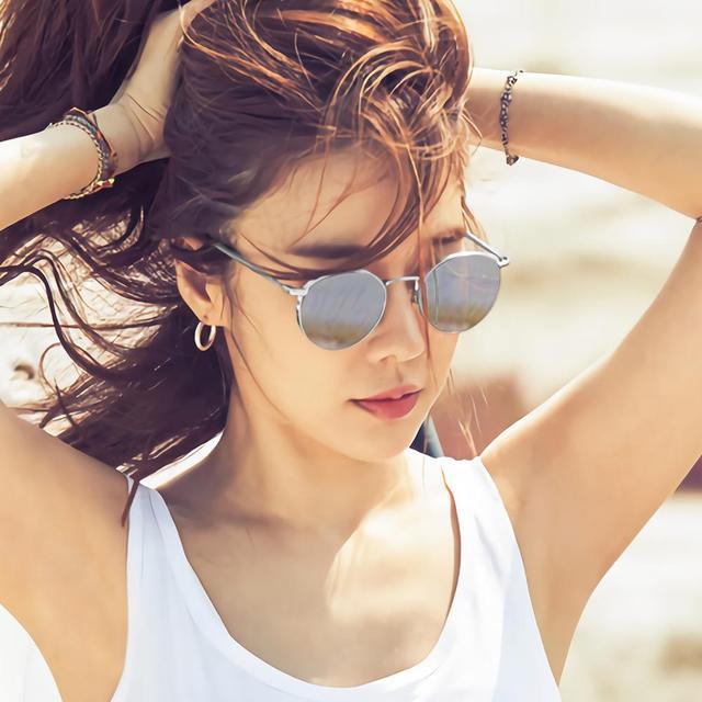 VEGOOS rétro lunettes de soleil pour femmes monture en métal Joplin Style unisexe Hippie cercle miroir lentille lunettes de soleil 100% Protection UV 3178