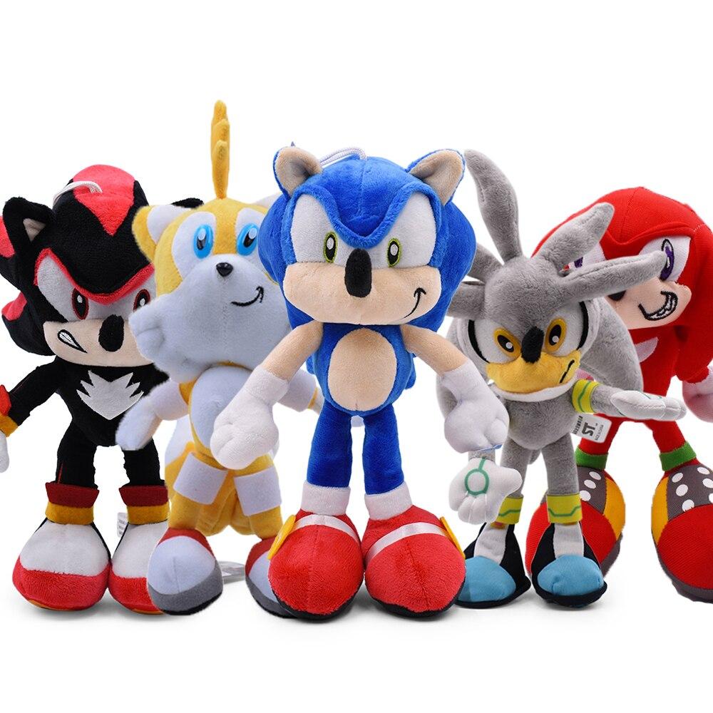 30cm Sonic pluszowa lalka zabawki gorąca sprzedaż Sonic Shadow Amy Rose miękka bawełniana nadziewane gry lalki zabawki dla dzieci Chris prezent dla dzieci