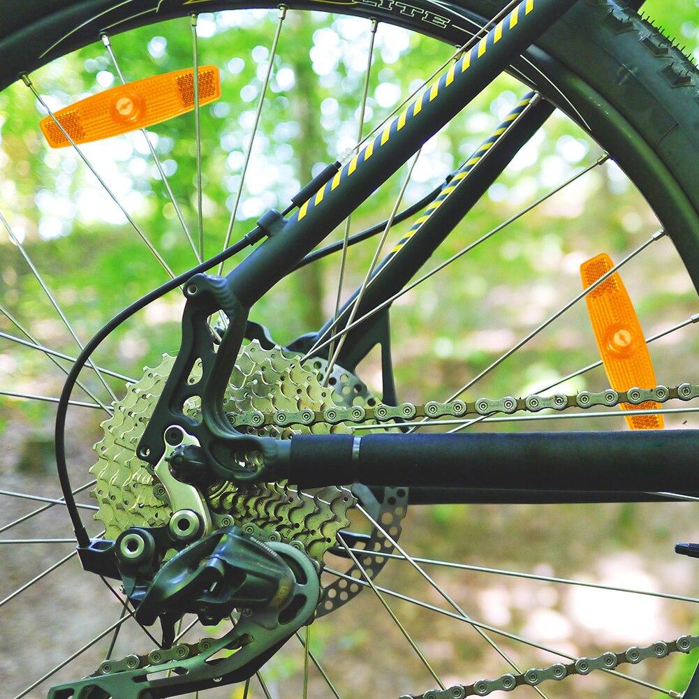 Lights MTB road cycling Reflector 4x Fish Shaped Bike Safety Spoke Reflector MTB Bicycle Wheel Rim Reflective Clip