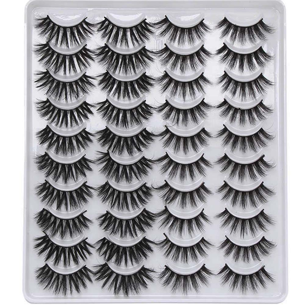 20 Pairs Mixed Styles 3D Mink False Eyelashes Natural Wispy Criss-cross Fluffy Eyelash Soft Handmade Cruelty-free Lashes