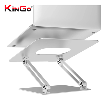 Kingo Suporte De Alumínio Laptop Stand Ajustável for computer notebook Xiaomi Ryzen gamer Surface Macbook Pro Air iPad Pro M2