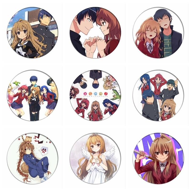 TIGER×DRAGON!Cosplay Badges Aisaka Taiga Brooch Pin Kushieda Minori Collection Badge Breastpin For Backpacks Clothing