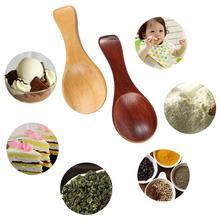 10PCS Wooden Salt Spoon Mini Wood Spoon with Short Handle sugar condiment spoon for Seasoning Sugar Milk Powder Spices цена 2017