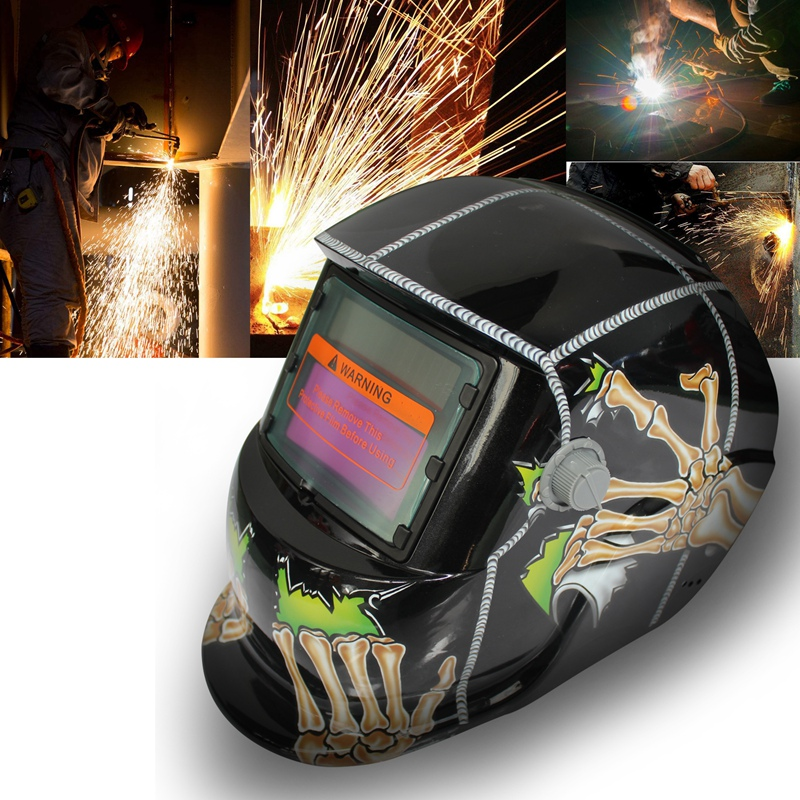 2018 New Pro Solar Welder Mask Auto-Darkening Welding Helmet Pattern Ghost Paw