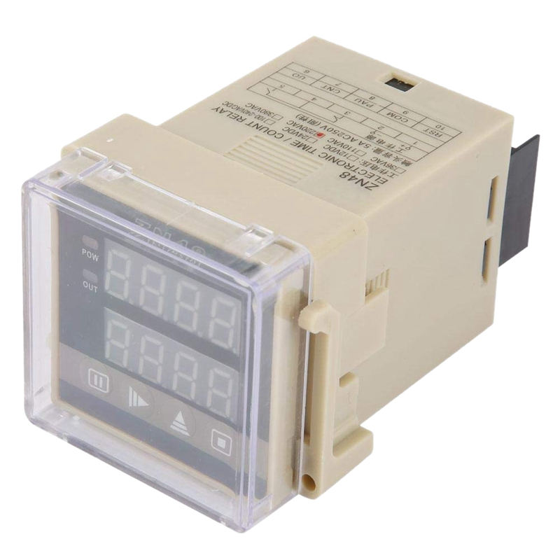 ZN48 AC220V Digital Time Relay Counter Multifunction Rotating Speed Frequency Meter