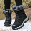 Winter Women Chunky Sneakers High-top Anti-slip Warmth Plush Walking Shoes Fashion Leisure Female Footwear Size 35-42