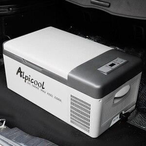 15L Car Fridge freezer DC/AC Portable Car Refrigerator 12V/24V 45W Compressor Cooler Freezer for Home Travel Camping universal
