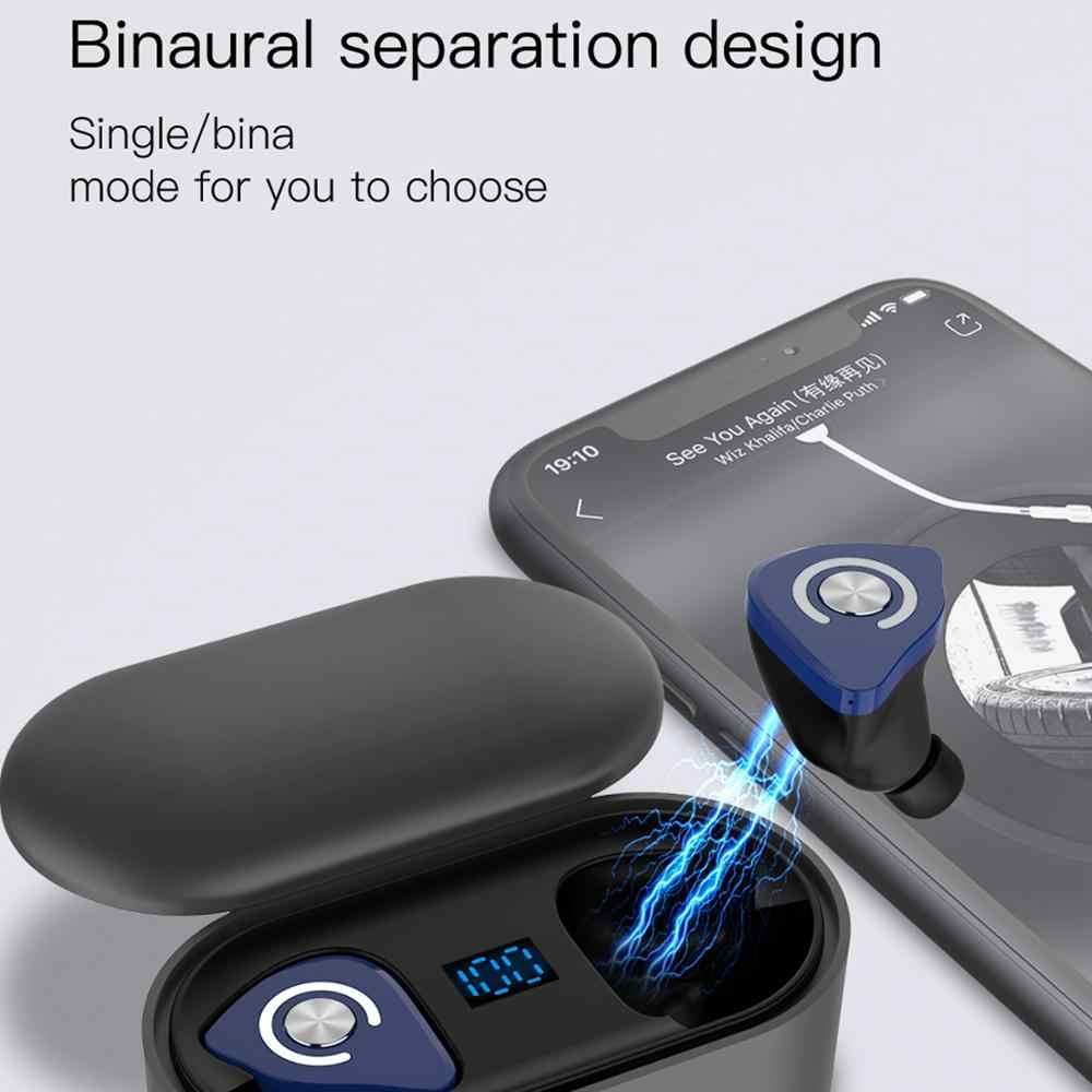 Femperna M9 TWS Bluetooth イヤホンワイヤレスヘッドフォン 3D ステレオ真ワイヤレスイヤフォンスポーツ Hifi ヘッドセットデュアルマイク