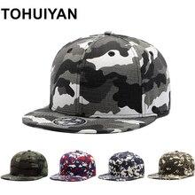 TOHUIYAN Camouflage Baseball Cap Men Military Snapback Hats Outdoor Tactical Hunting Caps 100% Cotton Hip Hop Hats For Women