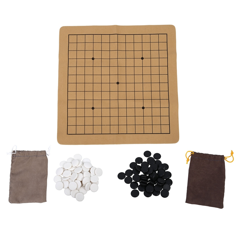 Quality 90Pcs Chess Game Set Suede Leather Sheet Board Children Educational Toy
