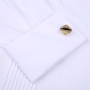 Image 3 - 남자 턱시도 셔츠 웨딩 긴 소매 드레스 프랑스어 커프스 단추 페타 폴드 다크 버튼 디자인 신사 셔츠 화이트 레드 블랙