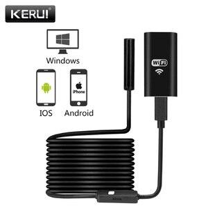 Image 1 - KERUI sans fil étanche câble souple Endoscope Micro 8mm 720P HD WiFi USB Endoscope caméra pour IOS iPhone téléphone Android