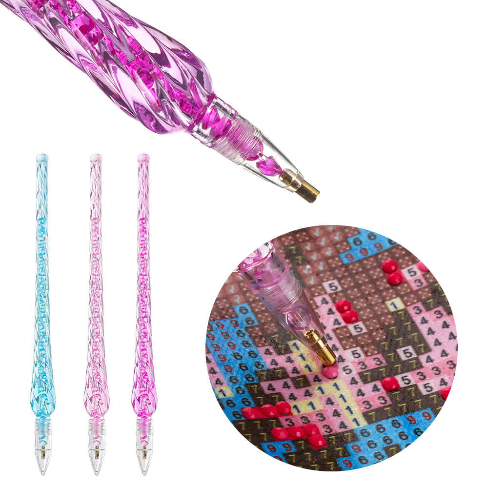 1PC Titik Bor Kristal Pulpen Diamond Lukisan Pen DIY Cross Stitch Bordir Kerajinan Jahit Rumah Tangga Lukisan Berlian Alat