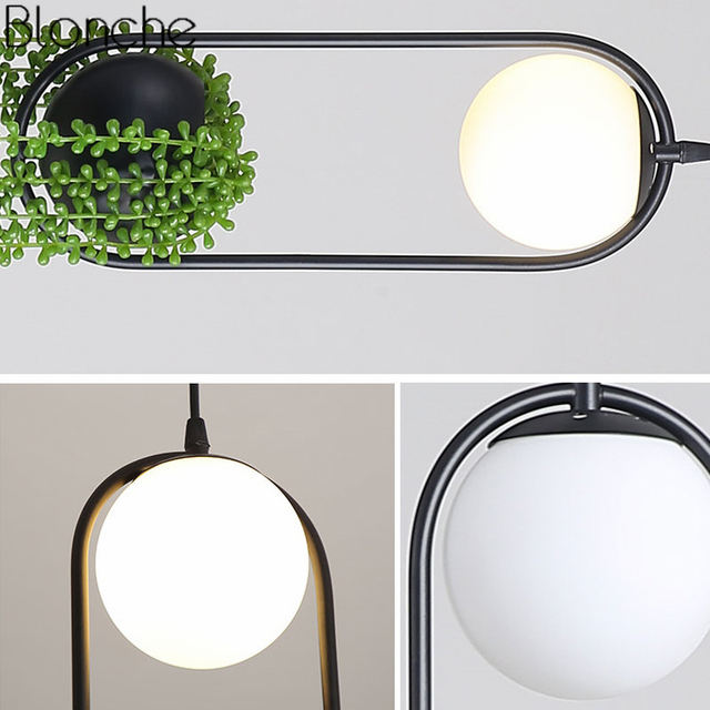 Nordic Diy Plant Hanglampen Skygarden Led Lamp Bloempot Opknoping Lamp Eetkamer Restaurant Verlichtingsarmaturen Thuis Decor